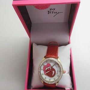 Betsey Johnson New Cherry Red Watch